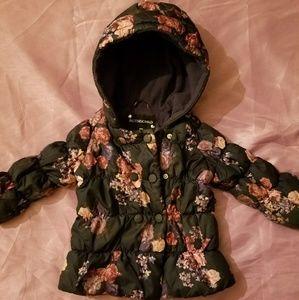 Rothschild Blue Floral Toddler Jacket